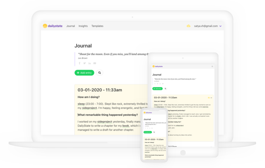 DailyState journaling systems and templates